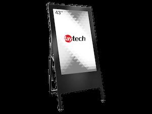"""faytech 43"""" Embedded PC Kiosk Customer Stopper (FT43EPCRK3399)"""