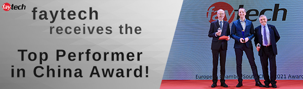 """Banner - faytech Receives """"Top Performer in China"""" Award"""